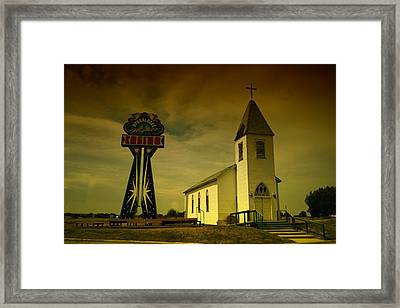 Church And Casino Those Two Angels  Framed Print by Jeff Swan