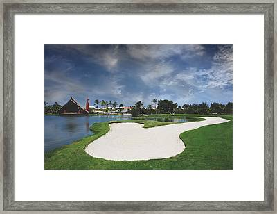 Church And Golf Framed Print by Laurie Search