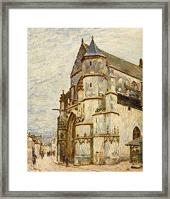 Church At Moret After The Rain Framed Print by Alfred Sisley