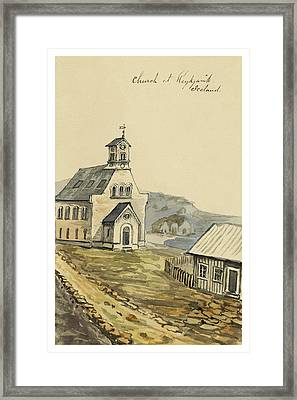 Church At Rejkjavik Iceland 1862 Framed Print by Aged Pixel