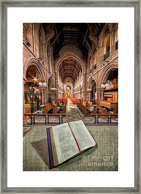 Church Bible Framed Print by Adrian Evans