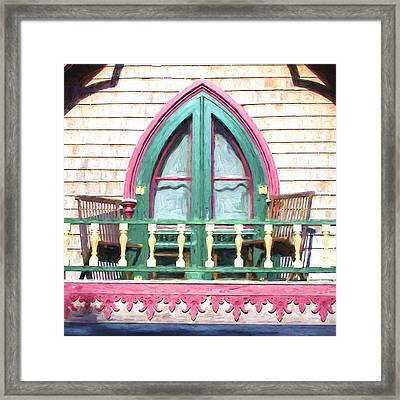 Church Camp House Detail Painterly Series 8 Framed Print by Carol Leigh