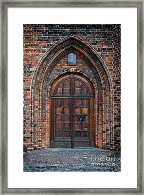 Church Door Framed Print by Antony McAulay