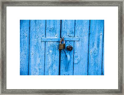 Church Door Blues Framed Print by Steven Bateson