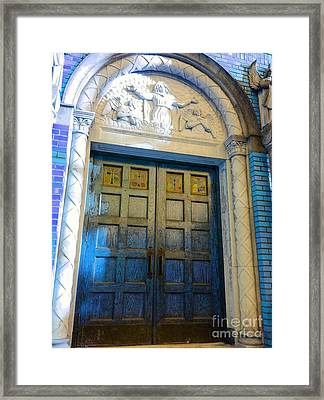 Church Door II Framed Print by Becky Lupe