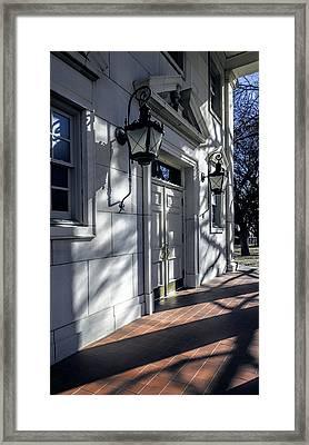 Church Doorway Framed Print by Joan Carroll
