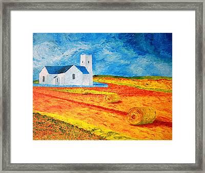 Church Harvest Ballintoy Framed Print by Paul Morgan