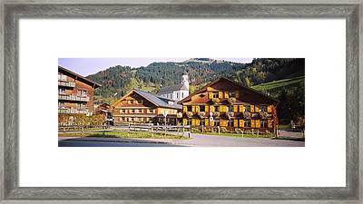 Church In A Village, Bregenzerwald Framed Print by Panoramic Images