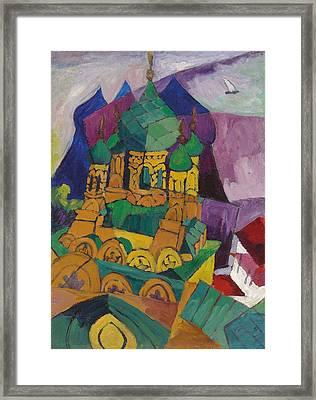 Church In Alupka Framed Print by Aristarkh Vasilievic Lentulov