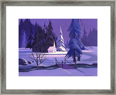 Church In Snow Framed Print by Michael Humphries