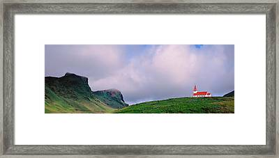 Church In The Landscape, Vik I Myrdal Framed Print by Panoramic Images