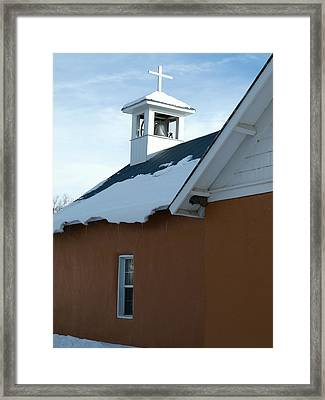 Church In Vallecitos New Mexico Framed Print by Gia Marie Houck