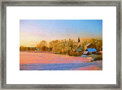 Church In Winter 2 Framed Print by Yury Malkov