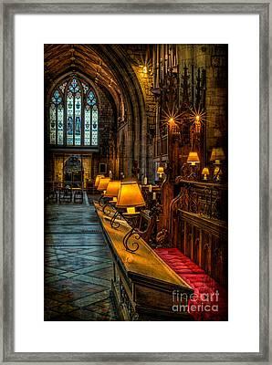 Church Lights Framed Print by Adrian Evans