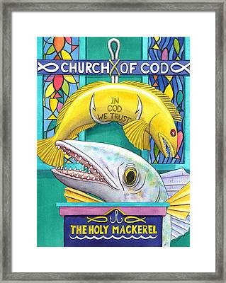 Church Of Cod Framed Print by Catherine G McElroy