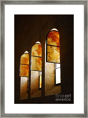 Church Of Heptapegon In Israel Framed Print by Eva Kaufman