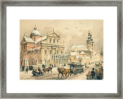 Church Of St Peter And Paul In Krakow Framed Print by Stanislawa Kossaka
