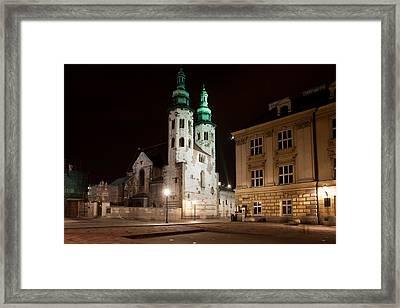 Church Of St. Andrew At Night In Krakow Framed Print by Artur Bogacki