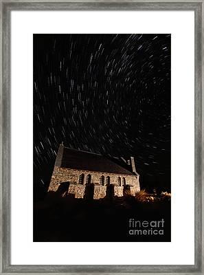 Church Of The Good Shepherd Startrail  Framed Print by Bill  Robinson