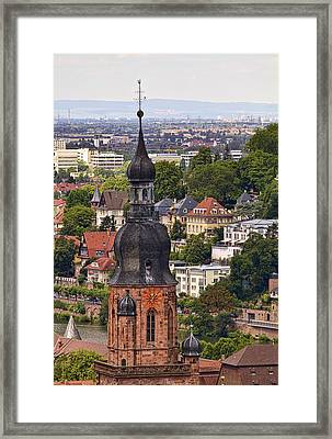 Church Of The Holy Spirit Steeple Framed Print by Marcia Colelli