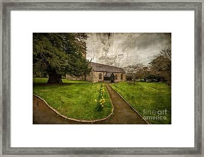 Church Path Framed Print by Adrian Evans