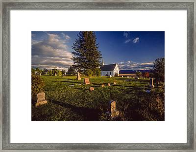 Church Potlatch Idaho 1 Framed Print by Mike Penney