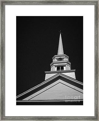 Church Steeple Stowe Vermont Framed Print by Edward Fielding