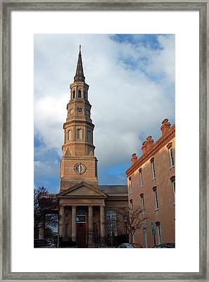 Church Street In Charleston Sc Framed Print by Suzanne Gaff