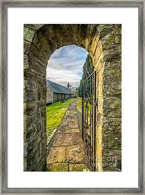 Church Way Framed Print by Adrian Evans