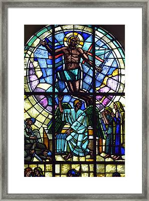 Church Window Framed Print by Toppart Sweden