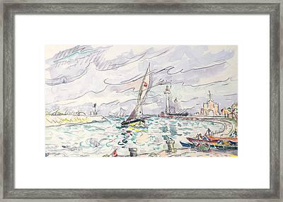 Ciboure Framed Print by Paul Signac
