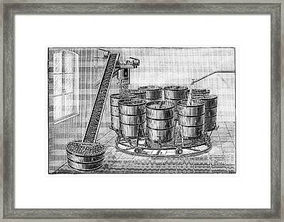 Cider Production Framed Print by Science Photo Library