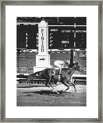 Cigar Horse Racing Framed Print by Retro Images Archive