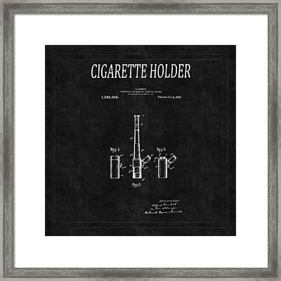 Cigarette Holder Patent 2 Framed Print by Andrew Fare
