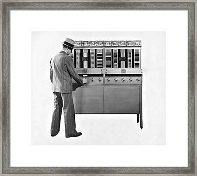 Cigarettes Vending Machine Framed Print by Underwood Archives