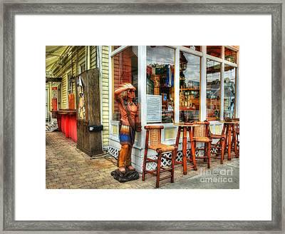 Cigars In Key West Framed Print by Mel Steinhauer
