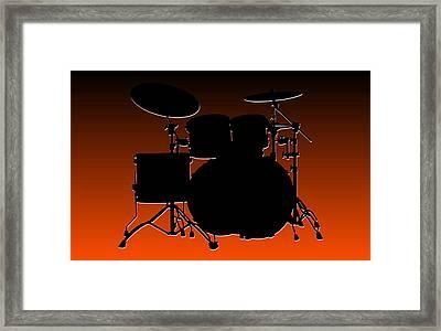 Cincinnati Bengals Drum Set Framed Print by Joe Hamilton