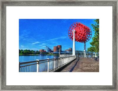 Cincinnati Big Wheel 2 Framed Print by Mel Steinhauer