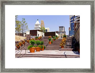 Cincinnati Downtown Central Business District Framed Print by Paul Velgos