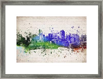 Cincinnati In Color Framed Print by Aged Pixel