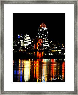 Cincinnati Skyline Dreams 4 Framed Print by Mel Steinhauer