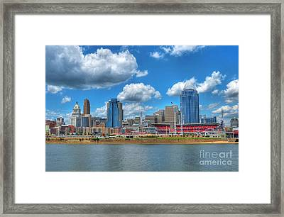 Cincinnati Skyline Framed Print by Mel Steinhauer