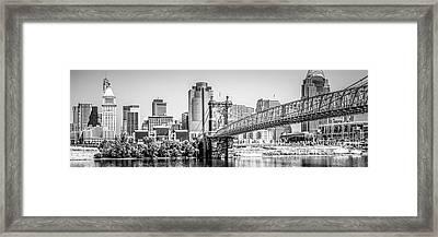 Cincinnati Skyline Panorama Photography Framed Print by Paul Velgos