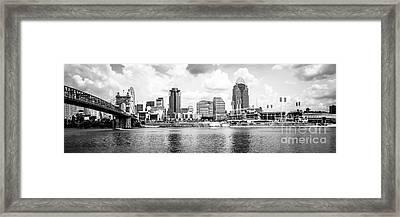 Cincinnati Skyline Panoramic Picture Framed Print by Paul Velgos
