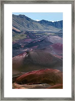 Cinder Cones In Haleakala Crater Framed Print by Kaj R. Svensson