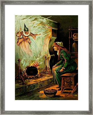 Cinderella And The Fairy Godmother Framed Print by Mother Goose