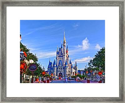 Cinderella Castle Framed Print by Phil Pantano
