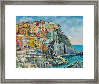 Cinque Terre Framed Print by Chris Brandley