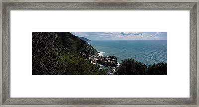 Cinque Terre Italian Riviera Vernazza Framed Print by Panoramic Images