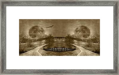Circle Framed Print by Betsy C Knapp